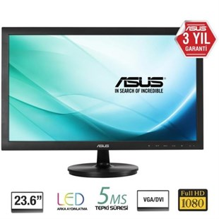 Asus 23.6 VS247HR LED Monitör Siyah 2ms
